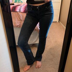 PAIGE premium denim dark wash boot cut jeans